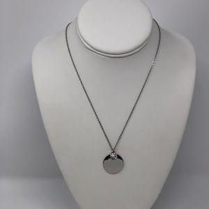 🆕Silver Tone Double Disc Necklace
